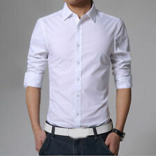 Stylish Mens Casual Button Down Slim Fit Long Sleeve Casual Formal Dress Shirts