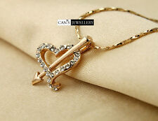 18K Rose Gold Plate Heart & Arrow Necklace with SWAROVSKI ELEMENTS CRYSTAL N284