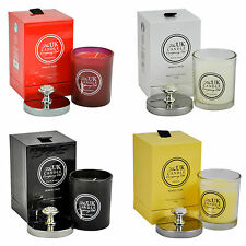 UK CANDLE COMPANY GLASS JAR CANDLE WITH A DECORATIVE LID 4 DIFFERENT SCENTS NEW