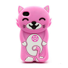 3D Smiley Cat Soft Silicone Gel Jelly Case for iPhone 4, 4S
