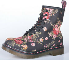 Dr Martens 1460Z Black Victorian Flower Airwair Leather Boots Mens/Womens New