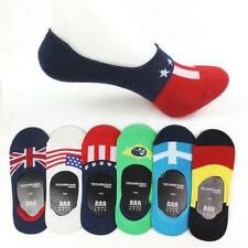 1 pairs Men's Socks Cotton Flag Shallow Mouth Invisible Boat Sports Slip Socks