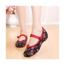Old Beijing Cloth Shoes Slipsole Small Flower National Style Embroidered Shoes D