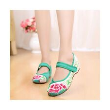 Old Beijing Cloth Shoes Assorted Colors Casual Embroidered Shoes Tie Slipsole In
