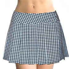 BLACK/WHITE CHECK SCHOOLGIRL PLAID TARTAN PLEATED PLUSSIZE MINI SKIRT (Beaumont