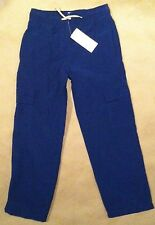 NWT Gymboree Boys Blue Lined Cargo Pants Elastic Waist 4 & 5