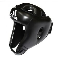 adidas Rookie Training Headguard Boxing Headgear MMA MuayThai Kick Boxing-BLACK