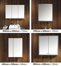 Stainless Steel Wall Mounted Bathroom Cabinet Mirror Single/Double/Triple Door