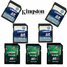 Kingston Class4/10 SD SDHC 4GB/8GB/16GB/32GB Memory Card for Camera GPS Tablet