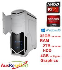 NEW AMD 8 Core FX 8350 4GHz 32GB RAM Radeon R7 370 Gaming Desktop PC X264544