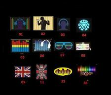 UK SOUND ACTIVATED FLASHING LIGHT UP & DOWN LED T-SHIRT PARTY BAR PUB