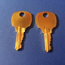 .2 File Cabinet Keys L & T Handle Code c601A - C650A Juke Box Key Desk Vending