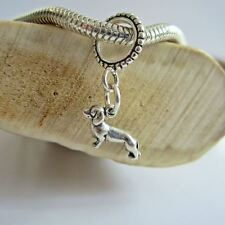 Dachshund Mini Sterling Silver European-Style Charm and Bracelet- Free Shipping