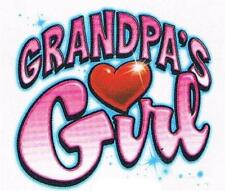 GRANDPA'S GIRL heart love Tee Shirt Many colors avail.  Sizes 6 mos. to 24 Mos.
