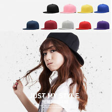 New Blank Plain Snapback Hats Unisex Men Hip-Hop adjustable bboy Baseball Caps