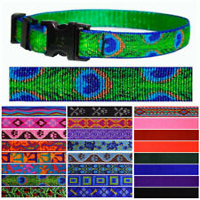 "Lupine Pet Replacement 3/4"" Strap Nylon Pattern Buckled Dog Collar Straps"