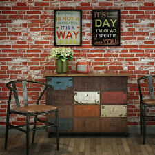 """Vintage Faux Brick Textured 3D Wallpaper Red/White for Wall Decor 20.8""""x393.7"""""""