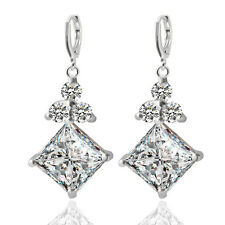Fashion Exquisite  Ladies Upscale Diamond Earrings Square