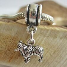 Collie Mini Sterling Silver European-Style Charm and Bracelet- Free Shipping