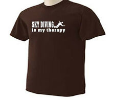 Skydiving Is My Therapy Plane Jumping Parachuting Skydive Sport T-Shirt