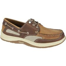 NEW Mens SEBAGO Dark Taupe / Dark Brown CLOVEHITCH II Boat Shoes B24351