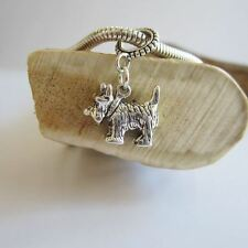 Scottie Large Sterling Silver European-Style Charm and Bracelet- Free Shipping