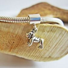 Bulldog Mini Sterling Silver European-Style Charm and Bracelet- Free Shipping