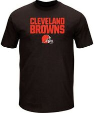 Cleveland Browns NFL Mens Majestic Birdseye Crew Neck Shirt Big & Tall Sizes