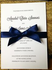 Sample Wedding/Evening Invitation Kraft Rustic Vintage Chic Shabby Chic Ribbon