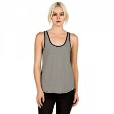 VOLCOM LIVED IN STRIPE TANK TOP BLACK WOMENS CASUAL SINGLET TOP CLEARANCE