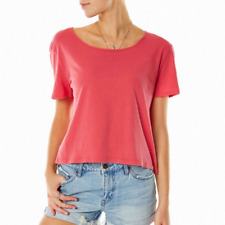 VOLCOM LIVED IN CREW MAUVE WOMENS CASUAL TOP FREE POST AUSTRALIA CLEARANCE