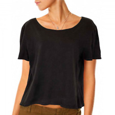 VOLCOM LIVED IN CREW VINTAGE BLACK WOMENS CASUAL TOP AUSTRALIA CLEARANCE