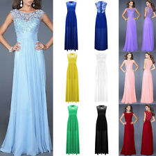 Women Sexy Formal Evening Party Cocktail Chiffon Lace Maxi Long Prom Club Dress