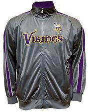 Minnesota Vikings NFL Mens Charcoal Tricot Track Jacket Big & Tall Sizes