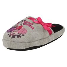 H45 Hannah Montana grey/pink slip on slippers By Disney £ 1.99