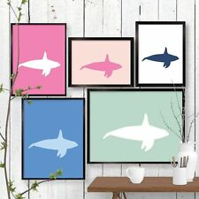 Geometric Orca Killer Whale Print Wall Art Wall Decor Poster