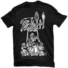 DEATH Scream Bloody Gore Line Art Black T Shirt Chuck Schuldiner Obituary Metal