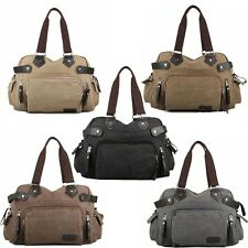 Men's Vintage Casual Canvas Tote Bags Shoulder Bag Messenger Bag Satchel handbag