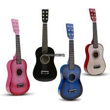 "23"" Kids Toy Blue/Pink/Black 6 String Children Acoustic Guitar+Pick+Strings DKVP"