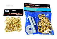 "103pc Grommet 50pc Brass 1/2"" Grommets Tarps Canvas Tent Installation Repair Kit"