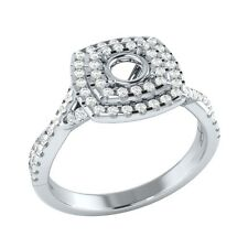 5.00mm Semi Mounting Solid Gold 0.40ct Certified Natural Diamond Engagement Ring