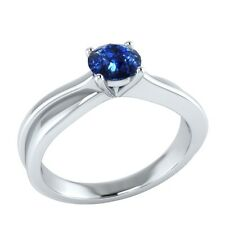 0.50 ct Solitaire Natural Blue Sapphire Solid Gold Wedding Engagement Ring