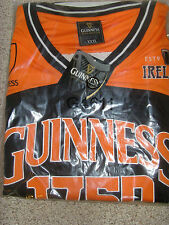 Guinness Performance Black and Orange  Basketball Top Shirt Jersey