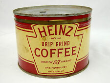 Vintage Heinz 57 Drip Ground Coffee 1 LB Can Tin w/ Lid, Pittsburgh PA