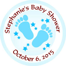 Personalised 37mm Baby Shower Stickers Labels Party Thank You Seals - L911