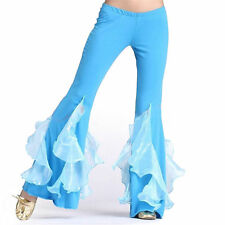 Belly Dance Leafroll Bright Bell Pants Dancing Tribal Crystal Cotton Costume