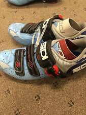 New Unboxed Sidi Genius 5 Women's Mesh Blue/Silver Road Cycling Shoes Size 40.5