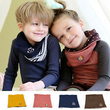 Baby Kid Children Neckerchief Winter Warmer Neck Gaiter Soft Wraps Beanie Scarf