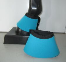 Horse Bell or Overreach Boots Sky blue & Black AUSTRALIAN MADE Protection