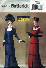 Victorian Dress TITANIC Drape EDWARDIAN Gown Sewing Pattern Butterick 4212 OOP